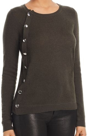 C by Bloomingdale's Asymmetric Button Cashmere Sweater
