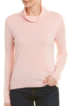 InCashmere Mock Collar Cashmere Sweater