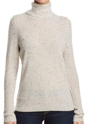 AQUA CashmereCashmere Turtleneck Sweater